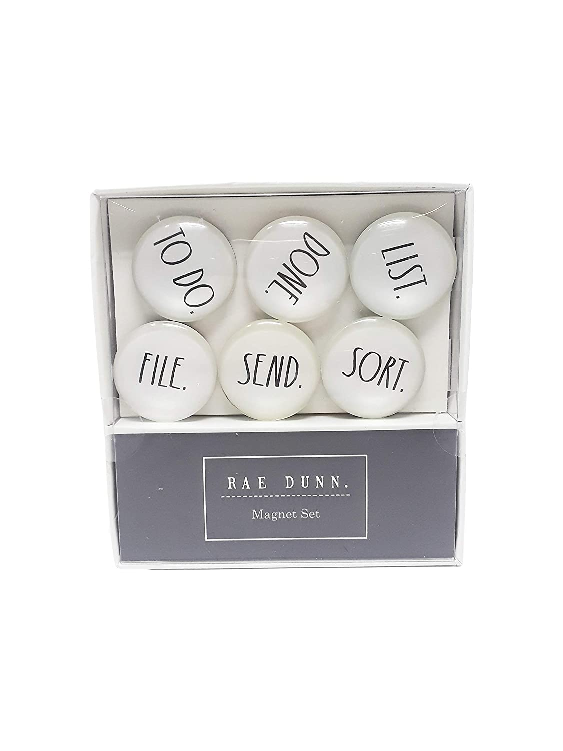 Rae Dunn Magnet Set 6 Glass-Dome Magnets