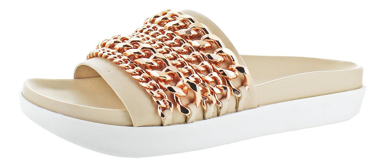 KENDALL + KYLIE Women's Shiloh Flat Sandal B01NGZ3U1G 7.5 B(M) US Ivory Multi Leather