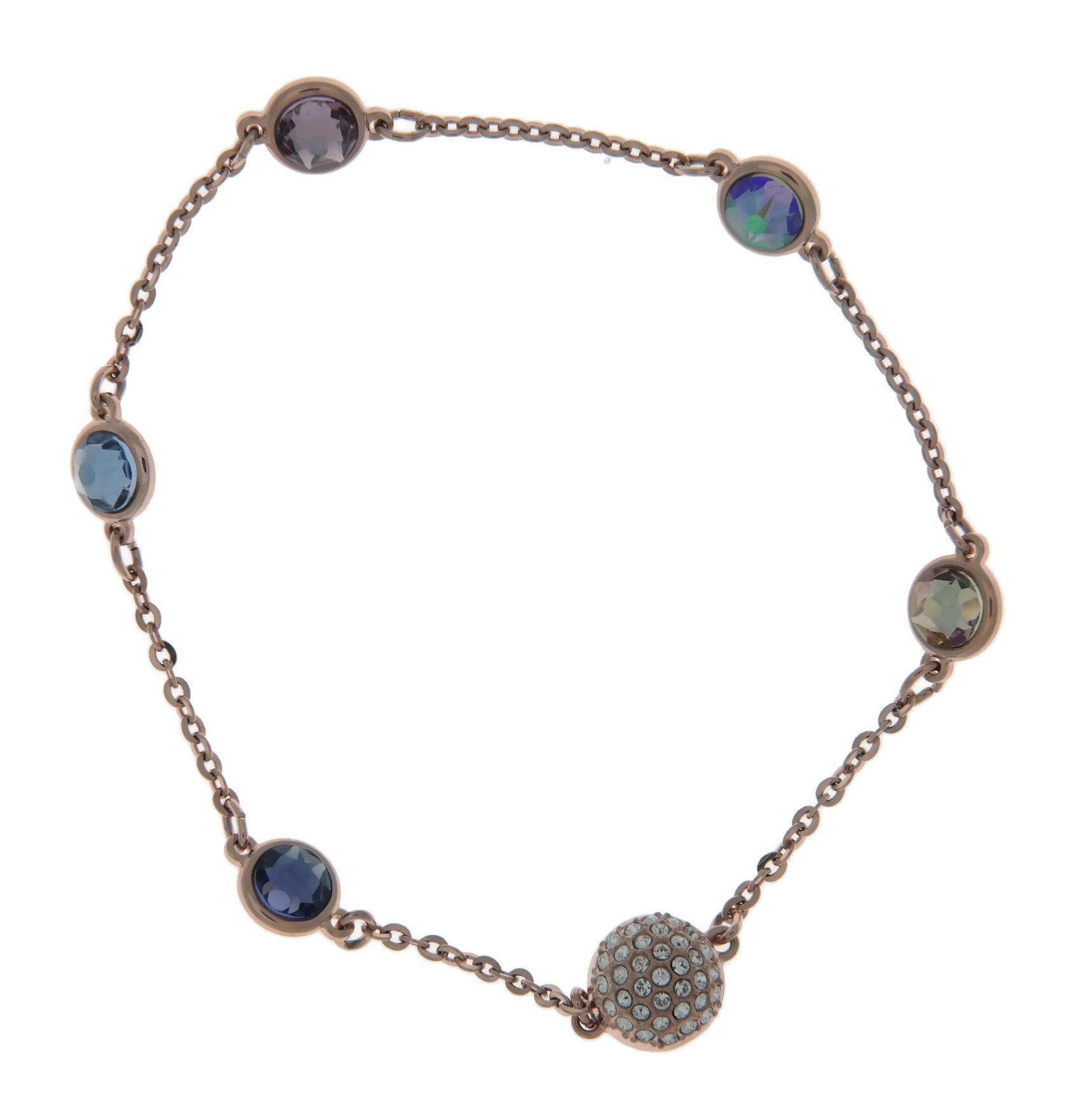 Swarovski Remix Collection Rose Gold-Plated Multi-Colored Crystal Strand, Size Medium
