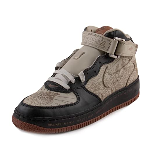 Nike Mens Air Force 1 Mid Insideout Black/Light Stone-Desert Clay Leather  Size