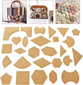 Handmade Mixed Quilt Templates,54 Pcs/Set Quilter Styling Tool Cloth for Quilting Supplies Clear Acrylic Pattern Stencil DIY Tool for Patchwork Leather Craft Quilting Sewing Tool