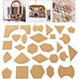D DOLITY 5 Pieces Assorted Shape Acrylic Quilting Templates Patchwork Template Sewing Crafts Hexagon
