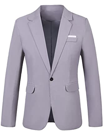 GARSEBO Men's Casual Dress Suit Slim Fit Stylish Blazer Coats ...