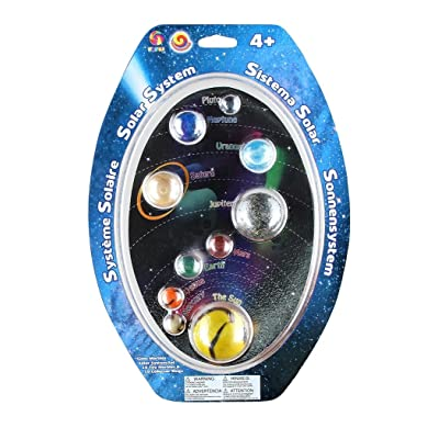Play Visions Solar System Mega Marbles Set - 10 Marbles & Rings To Make A Model Of The Solar System: Toys & Games