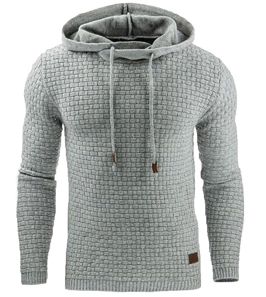 Minetom Hommes Sweat À Capuche Hooded Hoodies Mode Pull Veste Chaud Pullover Top Automne Hiver Sportif Casual Jacket Haut QL171201YW-DE09