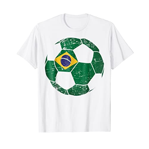 Brazil Soccer Ball Flag Jersey Shirt - Brazilian Football