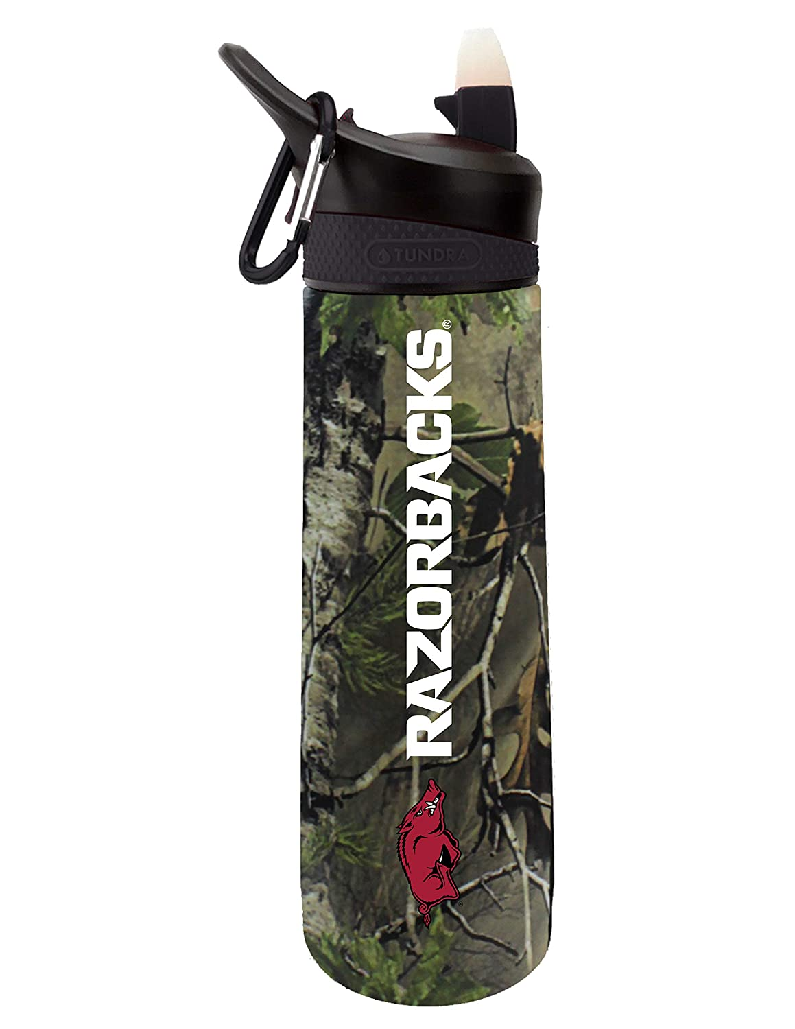 Design 2 The Fanatic Group University of Arkansas Dual Walled Stainless Steel Sports Bottle