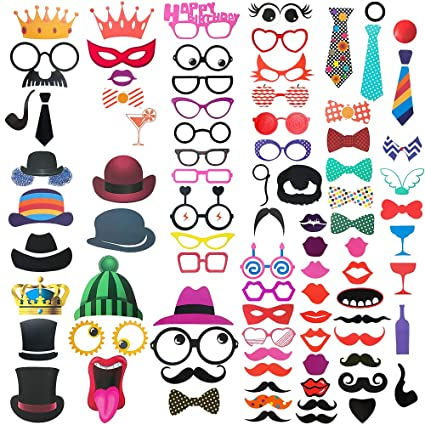 Men's Glasses Apparel Accessories Kind-Hearted Funny Mustache Design Sunglasses Creative Holiday Cosplay Costume Glasses Accessory