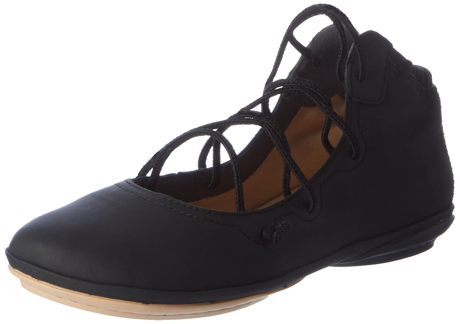 Camper Women's Right Nina K400194 Mary Jane Flat B01IQ28HBC 35 M EU / 5 B(M) US|Black