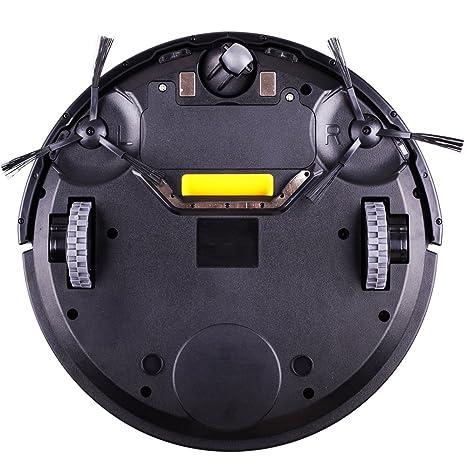 LIECTROUX B3000 Robot Aspirador con Auto Carga LED Pantalla Táctil con Tono HEPA Filtro Dos Lados Brush Control Remoto