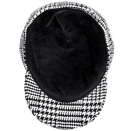 KDFLGE cappello Nuovo Berretto a Righe Moda di Alta qualità Ottagonale  Berretto Uomo Donna retrò Cappello da Giornale Cappello Autunno Inverno  Caldo ... e2cff9ed0f6d