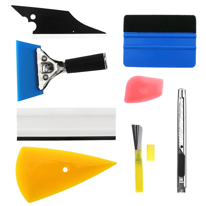 D2D 8/x attrezzi per finestrini auto professionale lavavetri pellicola da kit per raschietto pellicola in vinile coprente multicolore