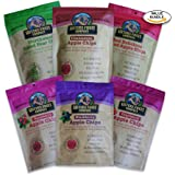Sisters Fruit Company, USDA Grade A Apple Chips and Pear Chips, Gluten Free, All Natural, 6x2.25 oz. (Assortment 6 Pack)