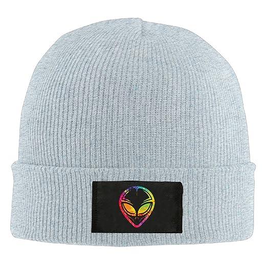 8be3431f296 Runningway Mars Alien Colorful Head Tribal Knit Winter Beanie Hat Skull Cap  Unisex Ash