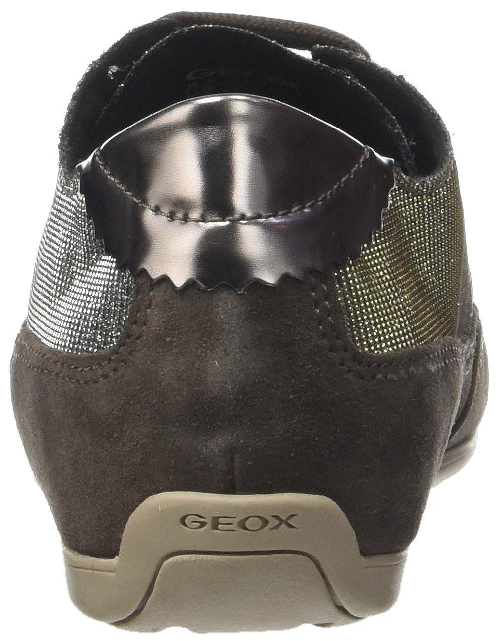 Geox Damen D New Moena Moena Moena D Sneaker  Braun (Gun/Chestnut) 132e29