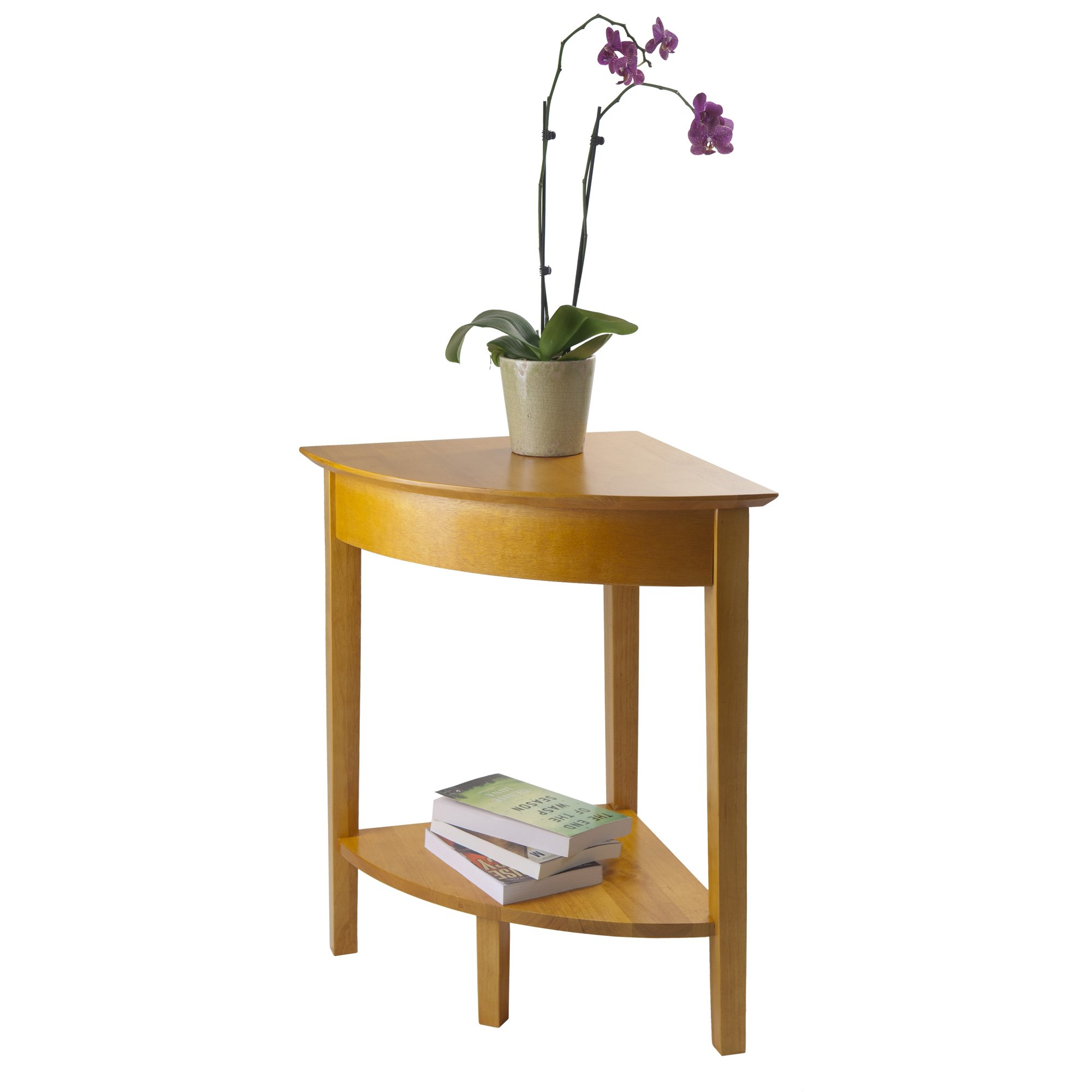 Winsome Wood Corner Desk with Shelf, Honey by Winsome Wood (Image #5)