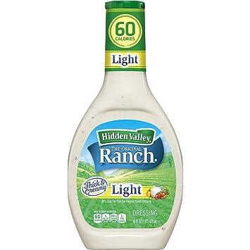 Hidden Valley Original Ranch Light Salad Dressing U0026 Topping, Gluten Free    16 Ounce Bottle