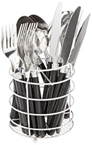 Gibson 53441.16 Sensations Stainless Steel 16-Piece Flatware Set Black