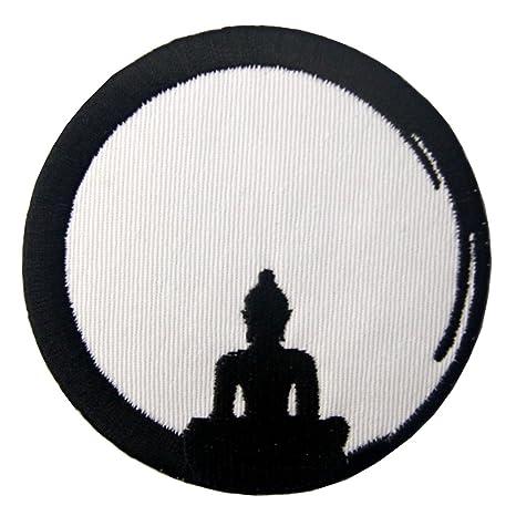 zum Aufb/ügeln oder Aufn/ähen Bestickt Design: Buddha Geburt zum Tod Buddhismus Zen Aufn/äher