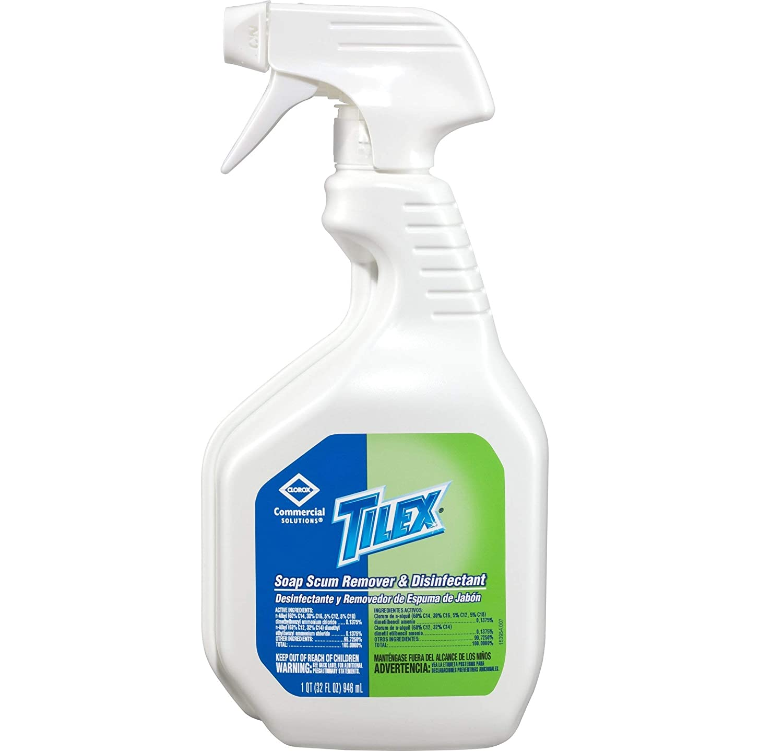 Amazon.com: Tilex Soap Scum Remover & Disinfectant, Spray, 32 Ounces (35604): Industrial & Scientific