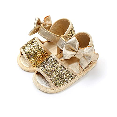 2019 Summer Baby Shoes with Anti Skid Rubber Sole HONGTEYA Baby Girls Sandals with Flower