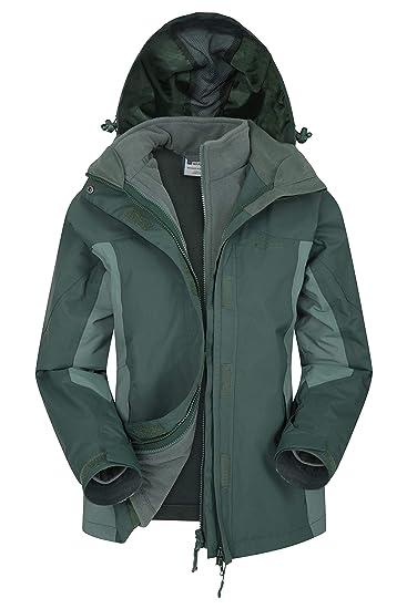 9845dbace Mountain Warehouse Storm 3 in 1 Womens Waterproof Rain Jacket