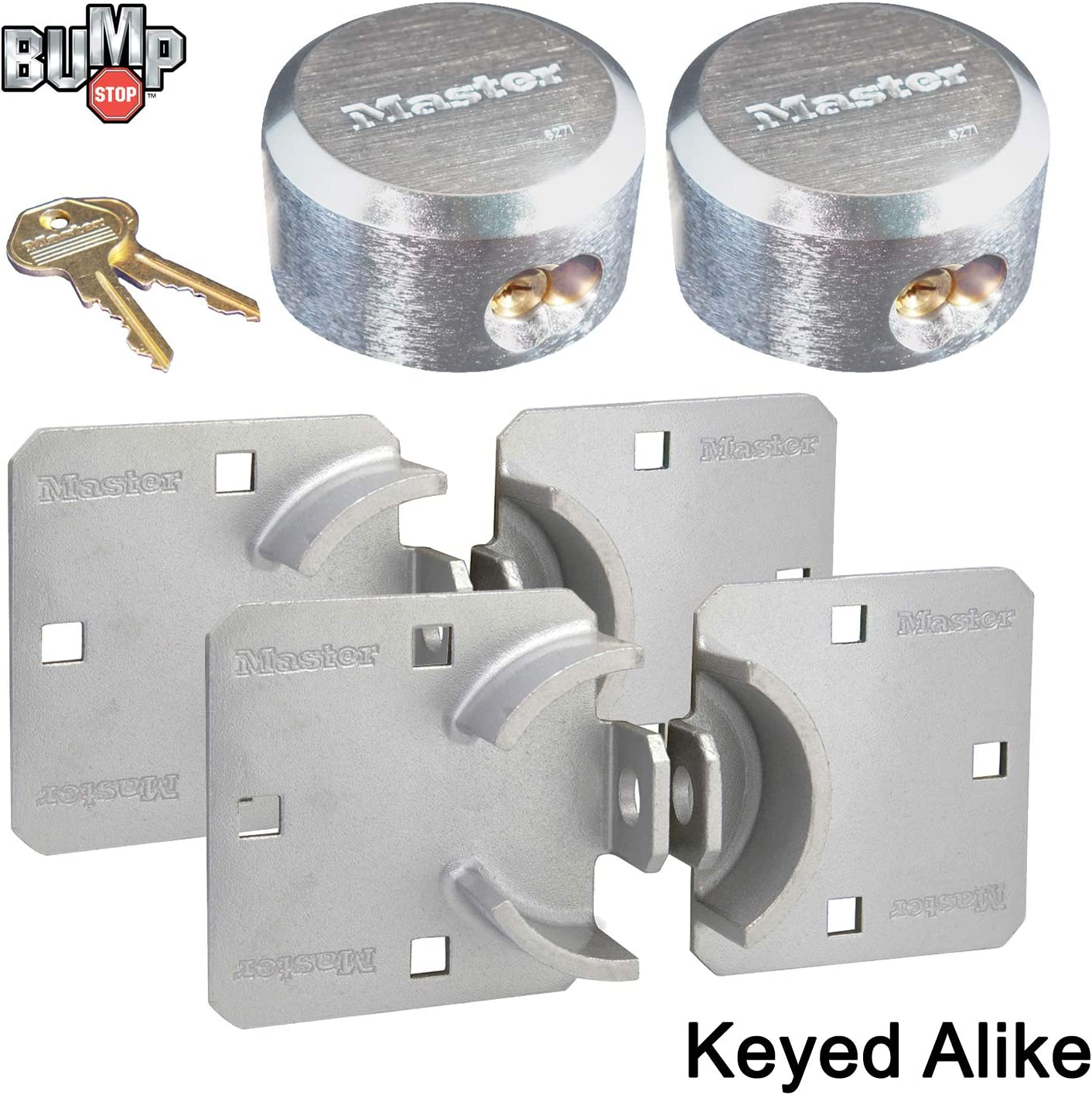 Lock by Master 6271KA /& Hasp 770 KEYED ALIKE Hidden Shackle Extreme Security