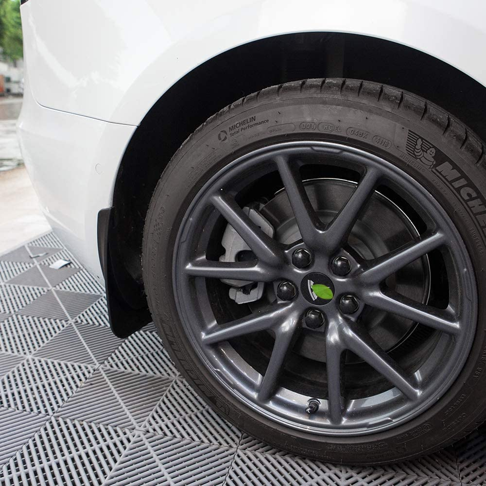 ETIAL 4PCS Car Mud Flaps Splash Guard Fender Plastic Front Rear Wheel Mudguard for Tesla Model 3 with Fixing Screws Black