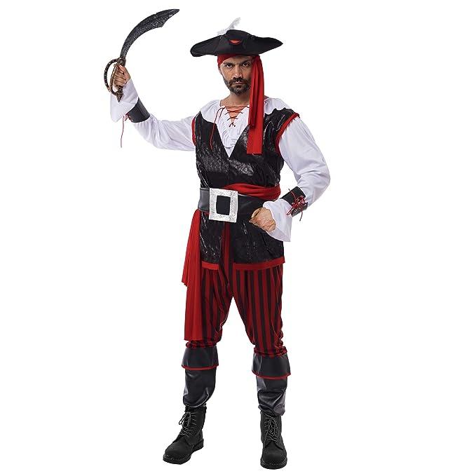 Amazon.com: Disfraz de pirata para hombre, capitán de mar ...