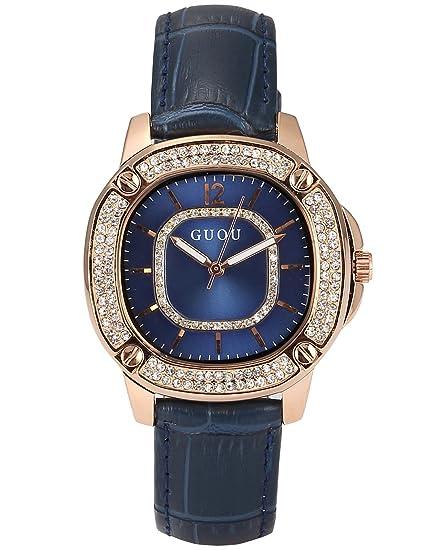 AMPM24 WK1223 Reloj Mujer Cuarzo Cristal de Cuero Azul