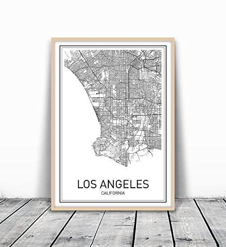 Amazoncom Los Angeles Map City Map Posters Los Angeles Print