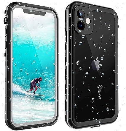 ShellBox Funda iPhone 11 IP68 Impermeable con Cuerda Protector de Pantalla Integrado de Silicona Cuerpo Completo Resistente a Prueba de Golpes para ...