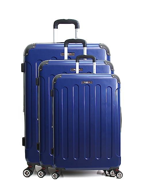 Blue Star Tunis Juego de Maletas, 72 cm, 210 Liters, Azul (Bleu