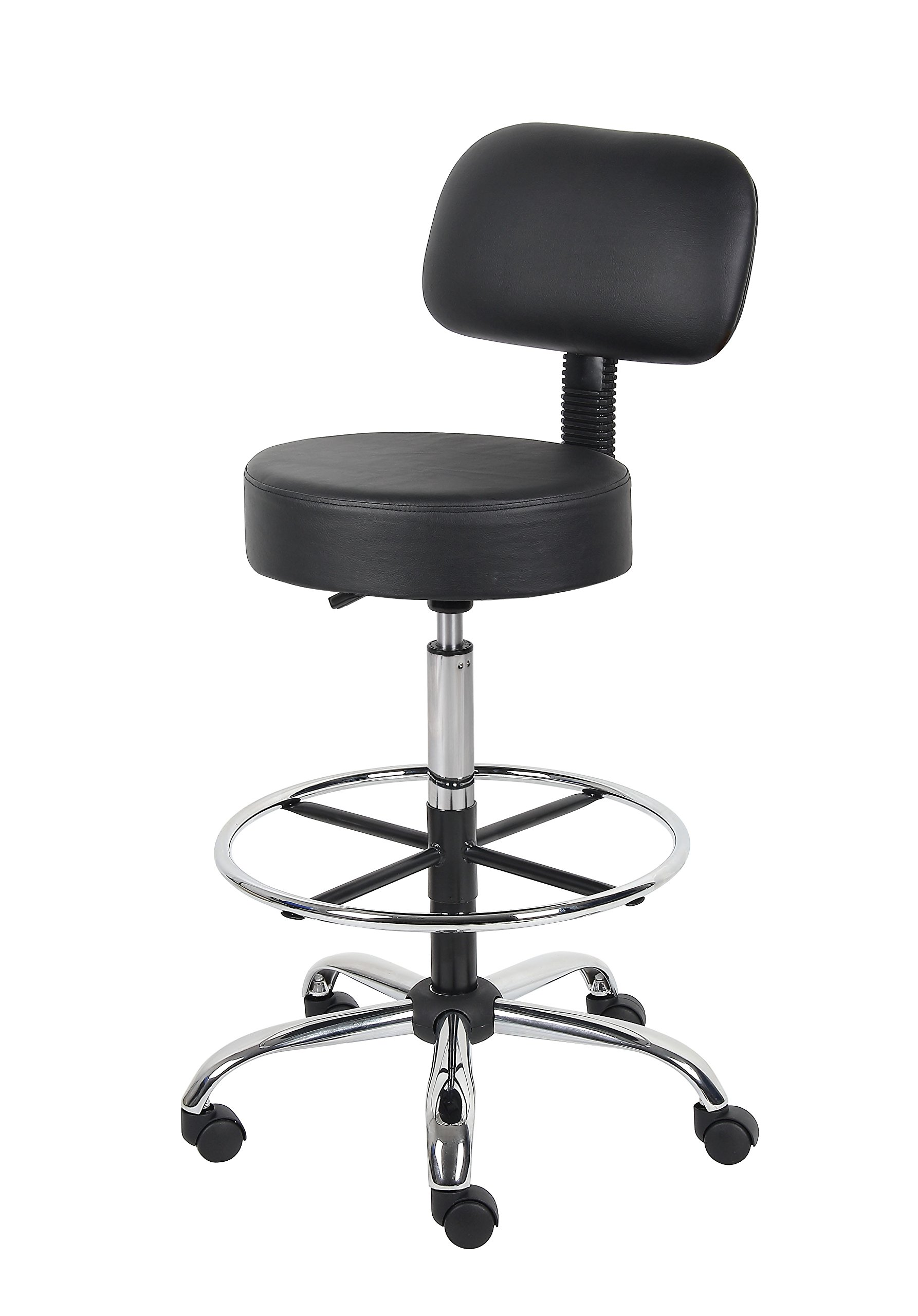 Boss Office Products B16245-BK Be Well Medical Spa Drafting Stool with Back,  Black by Boss Office Products (Image #5)