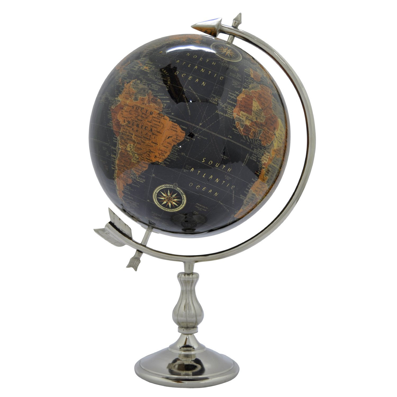Three Hands Table Top Globe, 12'', Black