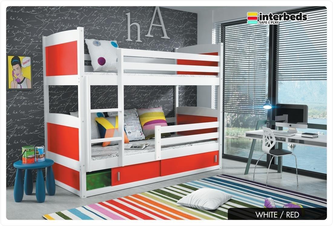 You Me Etagenbett Holz : Amazon.de: rico 2 etagenbett 185 x 80 farbe weiss mit matratzen