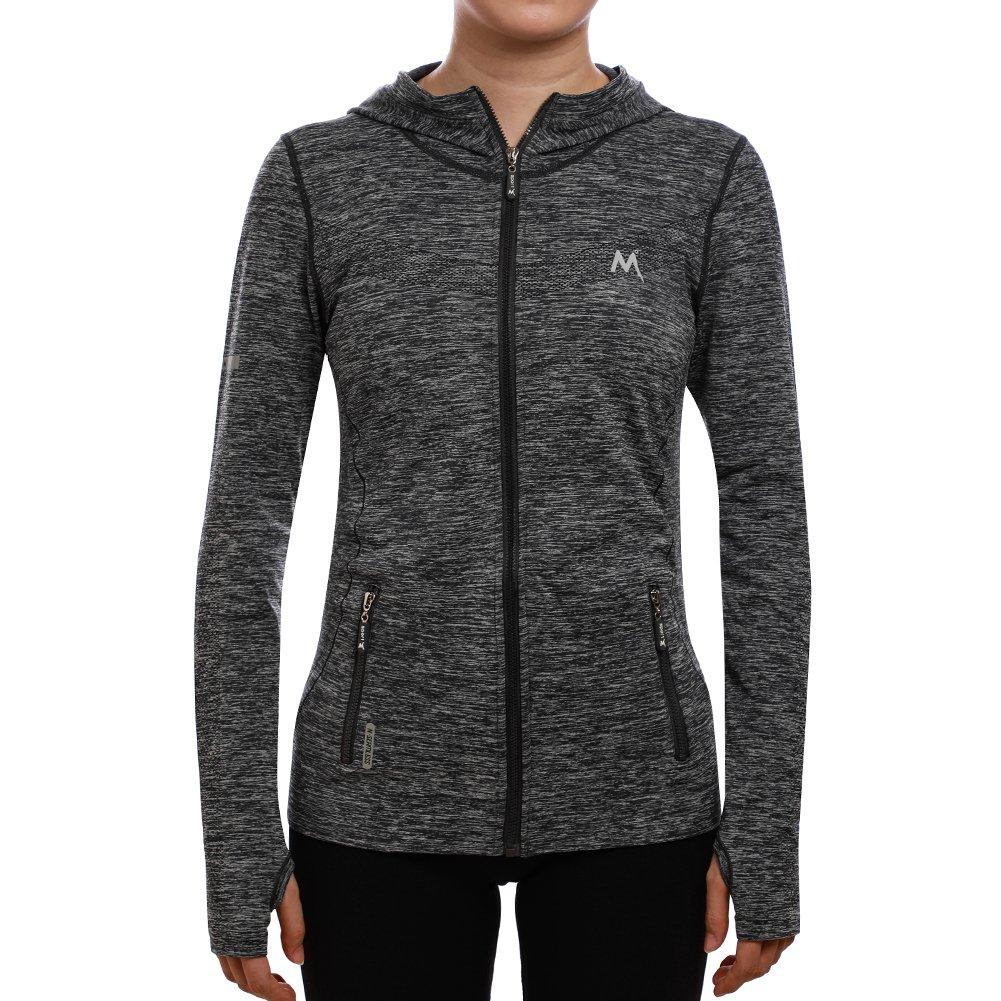 SEEU Activewear for Women, Long Sleeve Workout Shirts Gray M