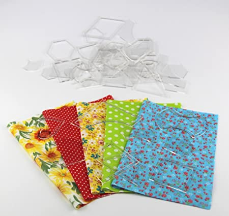 Patchwork Templates Triangles Hexagons And Squares Sector Set Of