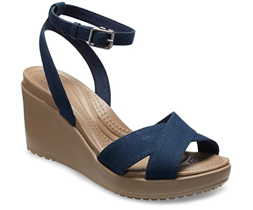 550642c3a12 crocs Leigh II Ankle Strap Wedge W  Amazon.in  Shoes   Handbags