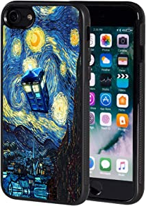 Cute Fashion Doctor Who Tardis Police Box Cool Black TPU for iPhone 8 (2017) / iPhone 7 (2016) 4.7 Inch