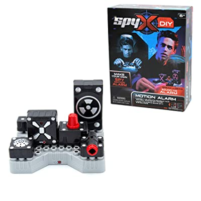 SpyX DIY Motion Alarm - Protect Your Stuff! STEM Educational Science Kit To Make Your Own Real-Working Spy Motion Sensor. Do It Yourself Electronic Spy Toy Gadget: Toys & Games