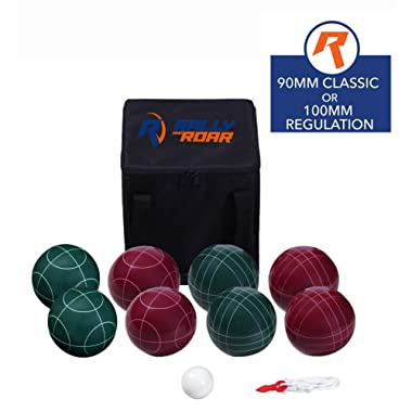 Bocce Ball Set Classic 90MM & Premium 100MM Options – Bocce Game for Adults, Families, and Kids Complete Bocce Yard and Lawn Games with Carrying and Storage Case by D1S/Rally & Roar - Fun Outdoor