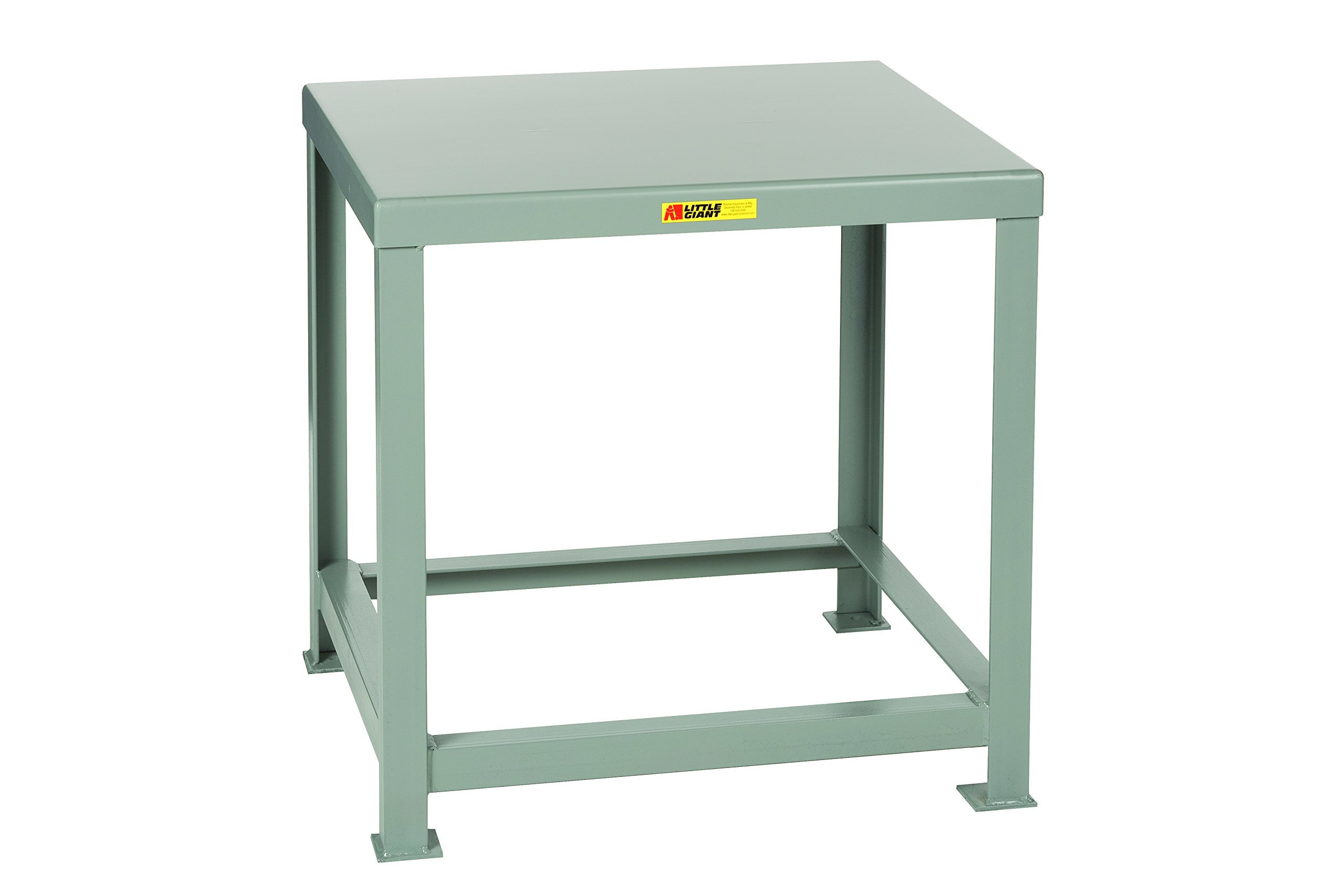 Little Giant MTH1-3048-36 Welded Steel Machine Table, 10,000 lb. Load Capacity, 30'' x 48'' x 36'', Gray