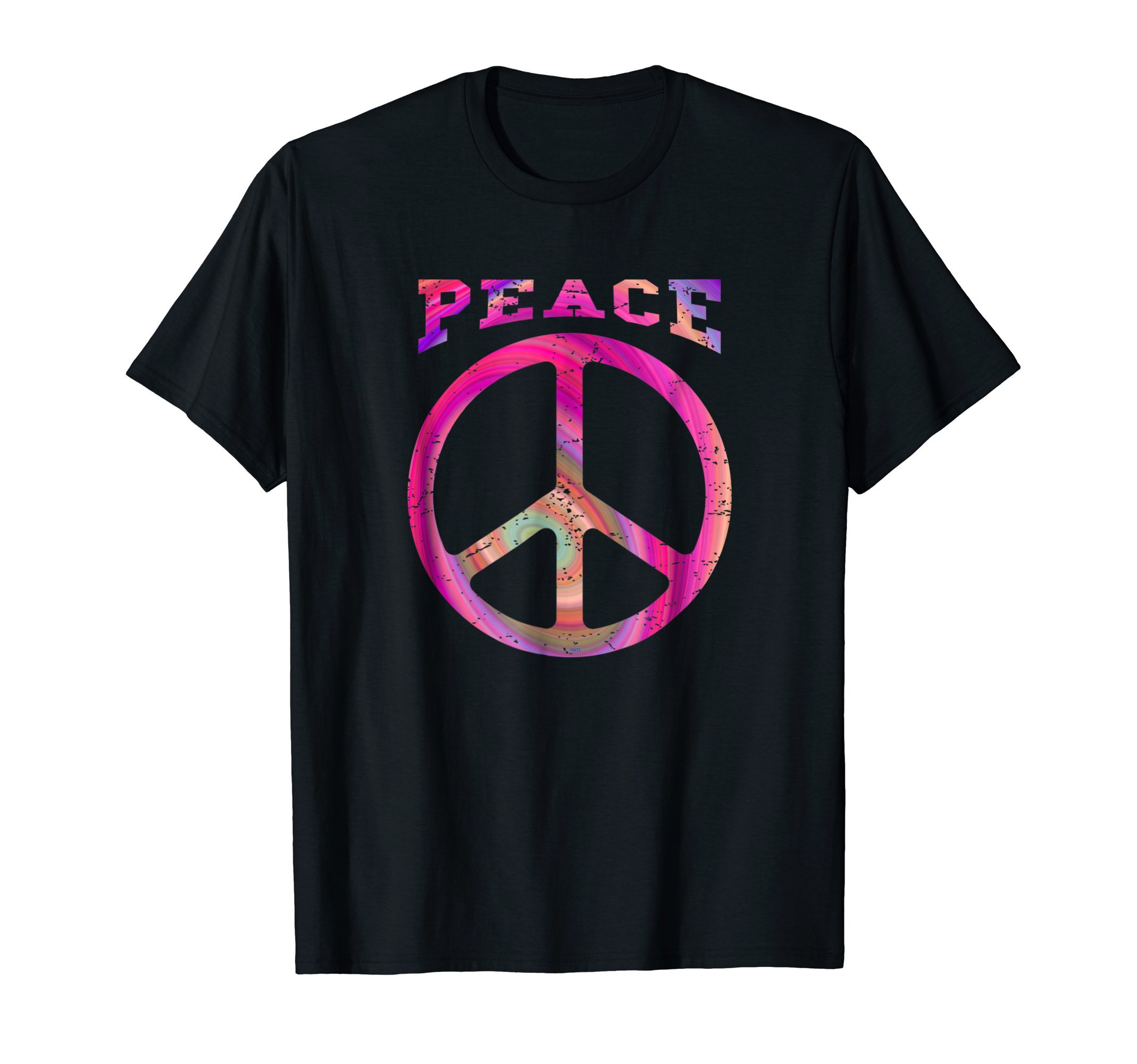 Retro-Peace-Psychedelic-Style-Hippie-T-Shirt-Tee-Gifts