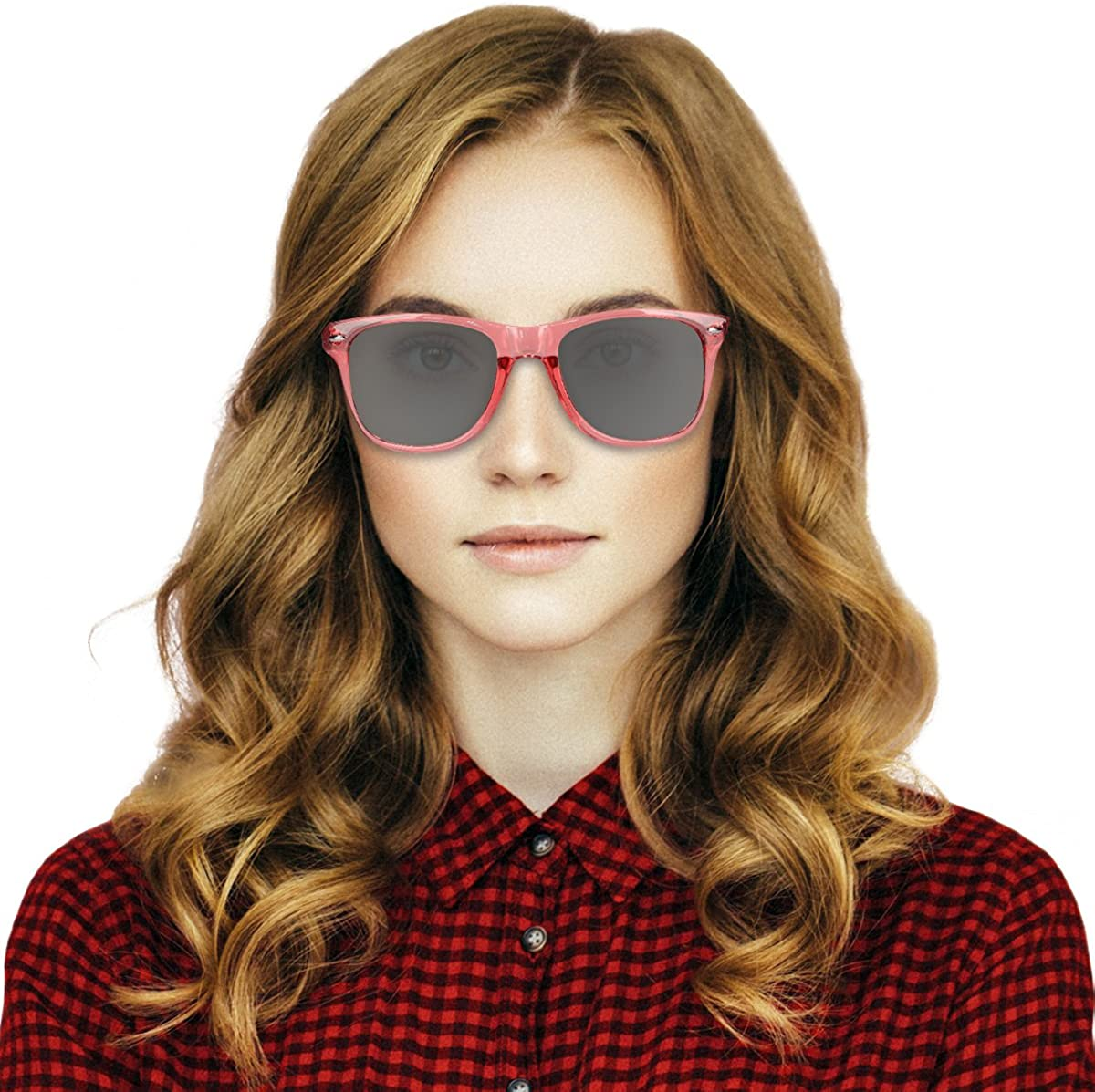 Holzbrille mit Etui Navaris Holz Sonnenbrille UV400 Unisex Damen und Herren Brille mit Bambus B/ügeln unterschiedliche Farben