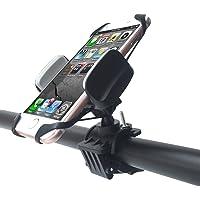 Fahrrad Handyhalterung,Degbit Universal Fahrradhalterung mit Silikonhalterung,Stabile Handy Halterung Halter für Smartphone wie GPS, iPhone 7/ 6,Samsung Galaxy S8/ S7 / S6 Edge,HUAWEI P9/ P10 usw.