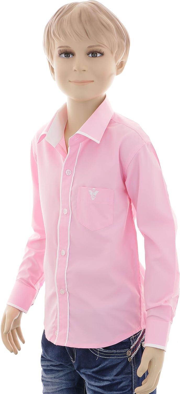 GILLSONZ - Camisa - Clásico - para niño Rosa 110 cm: Amazon ...
