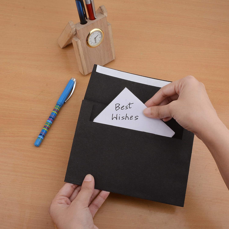 Busta nera con confezione da sigillo da 100 carte portamonete Fancy Packet per buste da regalo di design di Natale