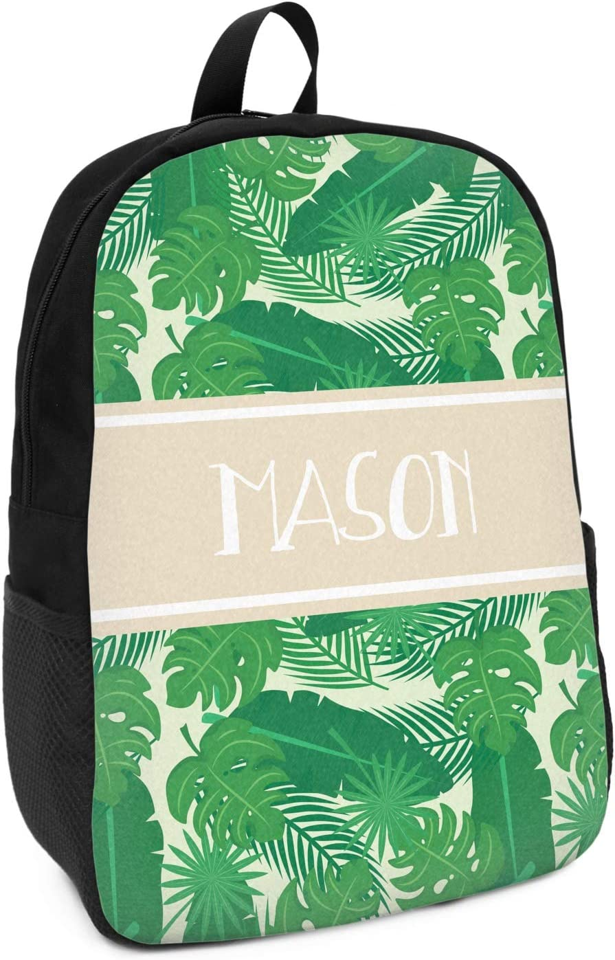 Tropical Leaves 2 Kids Backpack Personalized