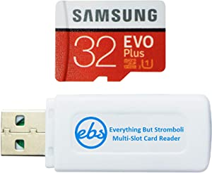 Samsung 32GB Evo Plus Micro SDHC Memory Card Works with Kodak Printomatic, Kodak Smile, Kodak Smile Classic Instant Film Camera (MB-MC32G) Bundle with (1) Everything But Stromboli MicroSD Card Reader